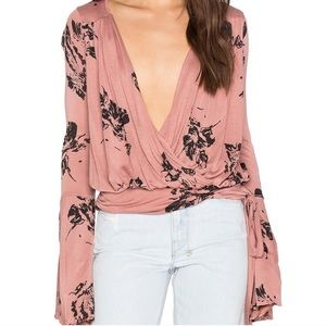 Free People Fiona Top Dusty Coral